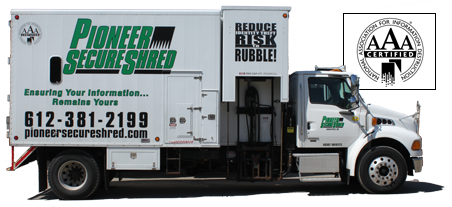 Pioneer SecureShred Truck AAA-Certified